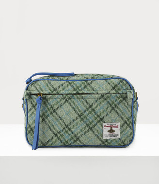 Vivienne Westwood Anna Large Camera Bag Green Tartan