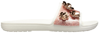 Crocs Sloane Radiant Slide Pearl Pink Glitter/Oyster Sandal W 205313
