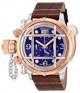 Invicta Men's 'Russian Diver' Swiss Quartz Stainless Steel and Two Tone Leather Casual Watch (Model: 17348)