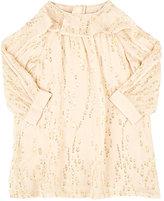 Chloé DOTTED SILK CHIFFON SHIFT DRESS