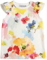 Simonetta Floral Print Coated Cotton Jersey Top