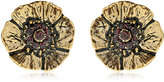 Alcozer & J Cloe Clip-On Earrings With Garnets