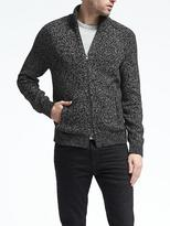 Banana Republic Marled Zip Sweater Jacket
