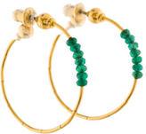 Gurhan 24K Emerald Rain Hoop Earrings