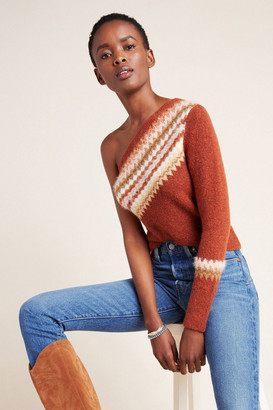 Anthropologie Vittoria One-Shoulder Sweater