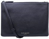 Kurt Geiger Pisces Leather Pouch Clutch Bag