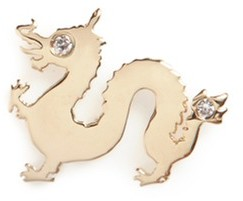 Loquet London 18k Yellow Gold Diamond Chinese New Year Charm - Dragon