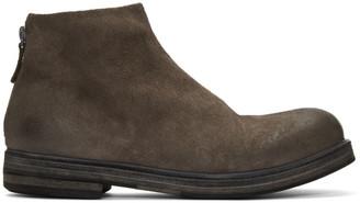 Marsèll Grey Suede Zucca Zeppa Tronchetto Boots