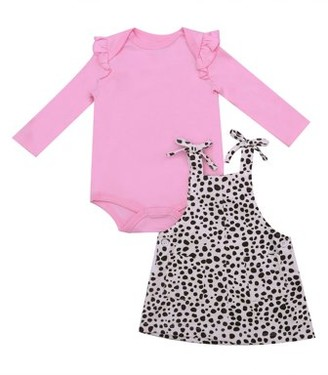 art & eden earth by Baby Girl Bodysuit & Overall Outfit, 2pc set