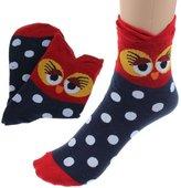 Sannysis New Fashion Women Girls Cartoon Lovely Cute Owl Cotton Socks