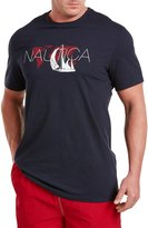 Nautica World Map and Boat Graphic T-Shirt