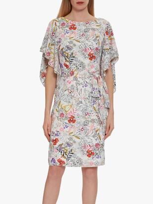 Gina Bacconi Alina Floral Frill Dress, Multi