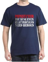 CafePress - Pipefitter Electrician Heroes T-Shirt - 100% Cotton T-Shirt, Crew Neck, Comfortable and Soft Classic Tee with Unique Design