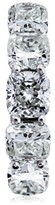 14K White Gold 12.55 ct. Cushion Cut Diamond Eternity Band Ring