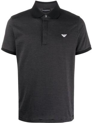 Emporio Armani Spotted Polo Shirt