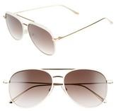 Jimmy Choo Women's Reto 57Mm Sunglasses - Shiny Black/ Grey Silver