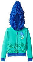 Freeze Trolls Aqua & Blue Branch Zip-Up Hoodie - Girls
