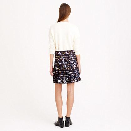 J.Crew Pleated lattice skirt in hidden floral