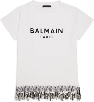 Balmain Kids Sequin-Hem T-Shirt (4-16 Years)