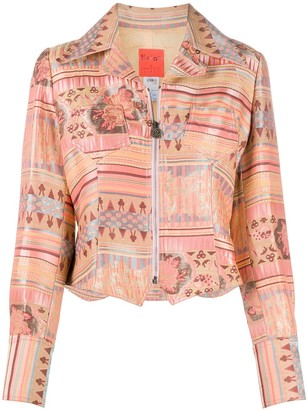 Christian Lacroix Pre-Owned 2000s Patterned Jacquard Cropped Jacket