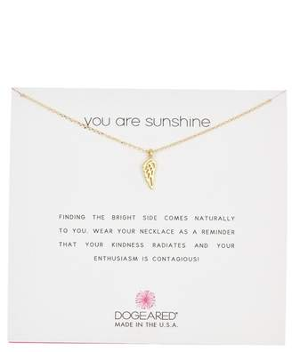 Dogeared You Are My Sunshine Angel Wing Pendant Necklace