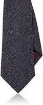 Isaia Men's Woven Cashmere Necktie-NAVY