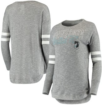 Women's Concepts Sport Gray Minnesota United FC Marble Tri-Blend Long Sleeve T-Shirt