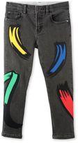 Stella McCartney paint strokes lohan jeans