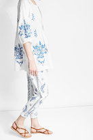 Juliet Dunn Embroidered Cotton Pants
