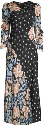 Rebecca Taylor Floral Mix Print Dress