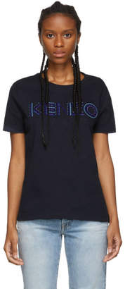 Kenzo Navy Embroidered Paris T-Shirt