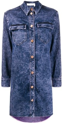 See by Chloe distressed finish denim dress