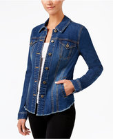 Style&Co. Style & Co Frayed Denim Jacket, Created for Macy's