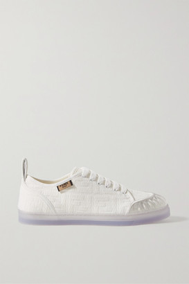 Fendi Pvc-trimmed Logo-jacquard Canvas Sneakers - White