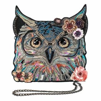 Mary Frances Spirit Owl Beaded-Embroidered Crossbody Handbag