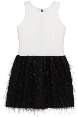 Fly London Zoe Girl's Metallic Bubble Skirt Dress, Size 7-16