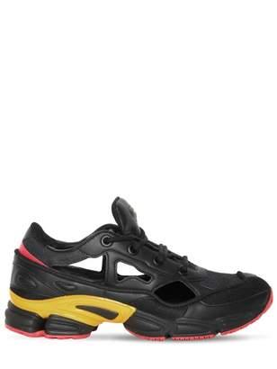 Raf Simons Adidas X Replicant Owzeego Black Leather Trainers