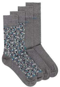 BOSS Two-pack of socks in a mercerised cotton blend
