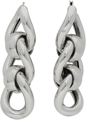 Bottega Veneta Silver Triple Link Earrings