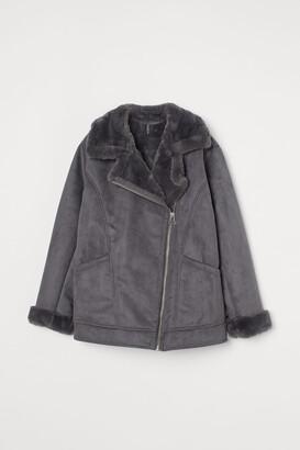 H&M Faux Fur-collar Jacket