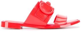 Salvatore Ferragamo Gancini slider sandals