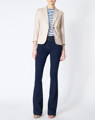 Veronica Beard Schoolboy Linen Dickey Jacket