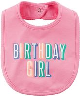"Carter's Baby Girl Birthday Girl"" Bib"
