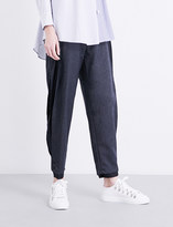 Limi Feu Split-side tapered wool-blend trousers