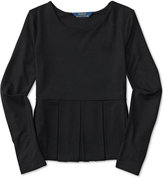 Ralph Lauren Long-Sleeve Peplum Shirt, Big Girls (7-16)