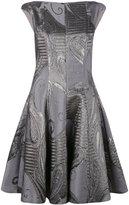 Talbot Runhof Korbut dress - women - Cupro/Polyester/Silk/Polyamide - 34