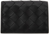 Bottega Veneta Black Intrecciato Bifold Card Holder