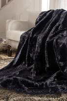 NMK Luxurious Faux Fur Throw - Midnight Black