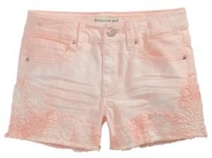 Imperial Star Big Girls Crochet Trim Tie-Dye Shorts