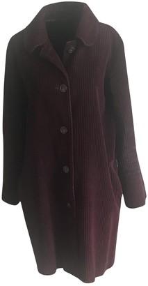 A.P.C. Burgundy Wool Coats